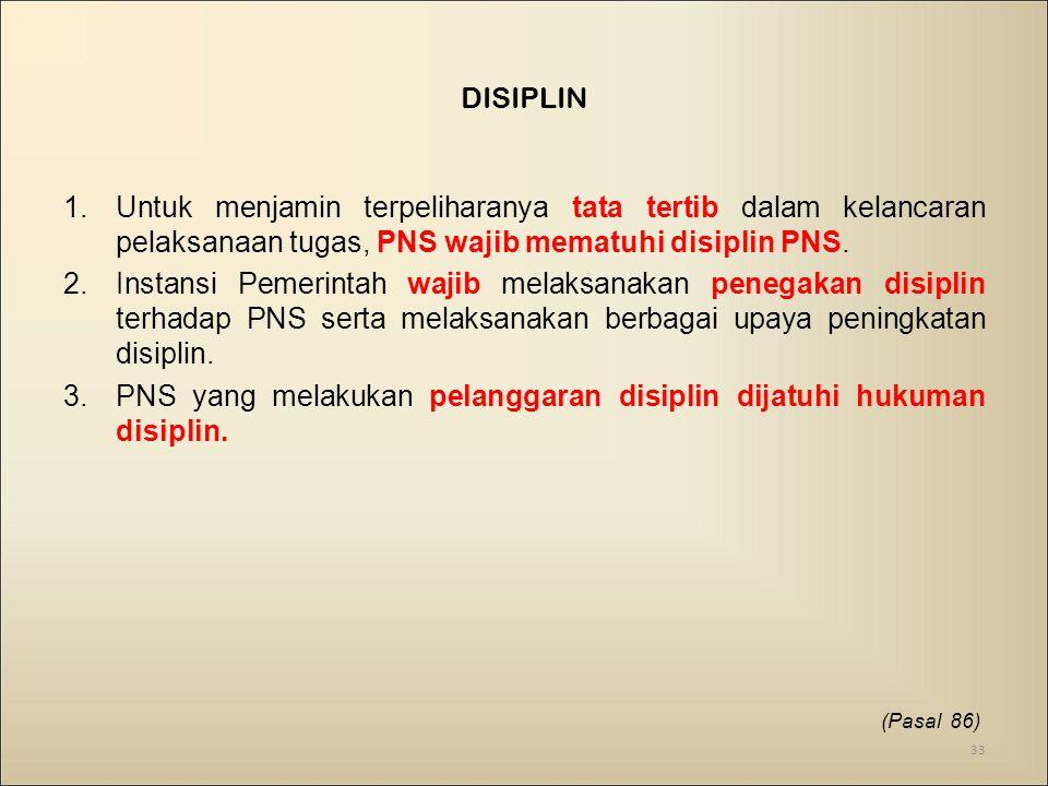 PNS yang melakukan pelanggaran disiplin dijatuhi hukuman disiplin.