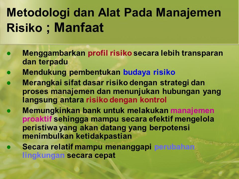 Metodologi dan Alat Pada Manajemen Risiko ; Manfaat