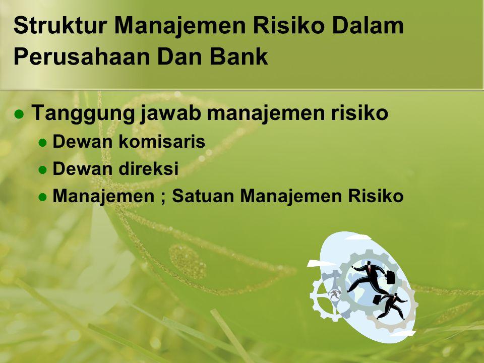 Struktur Manajemen Risiko Dalam Perusahaan Dan Bank