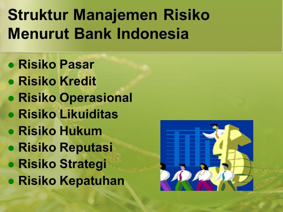 Struktur Manajemen Risiko Menurut Bank Indonesia