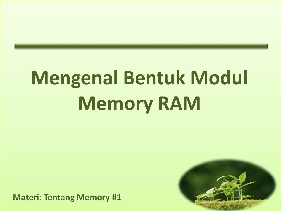 Mengenal Bentuk Modul Memory RAM