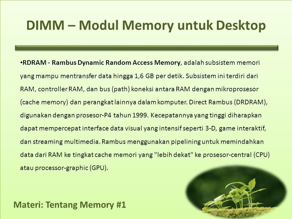 DIMM – Modul Memory untuk Desktop