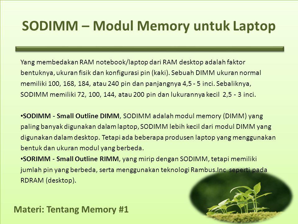 SODIMM – Modul Memory untuk Laptop