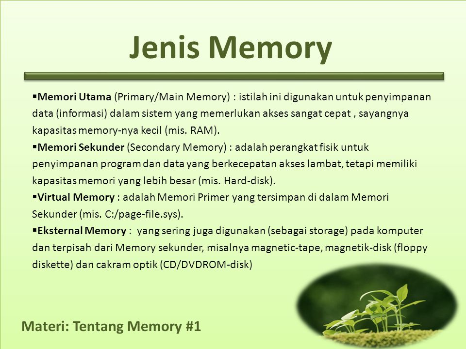 Jenis Memory
