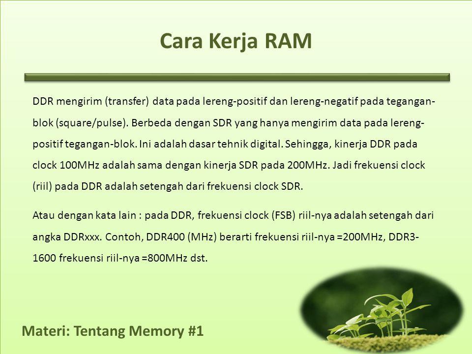 Cara Kerja RAM