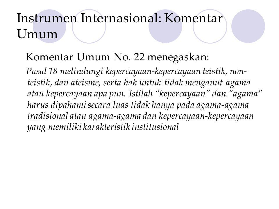 Instrumen Internasional: Komentar Umum
