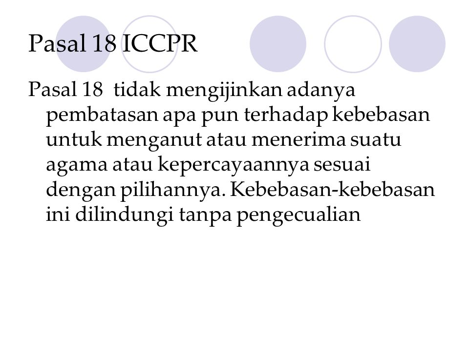 Pasal 18 ICCPR