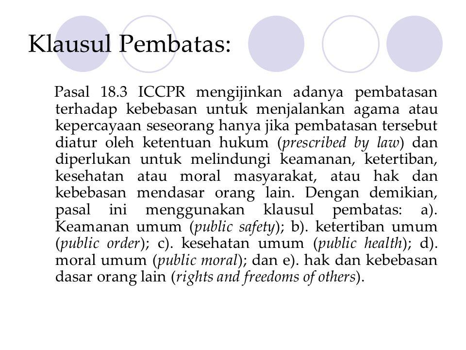 Klausul Pembatas: