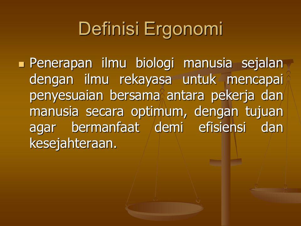 Definisi Ergonomi