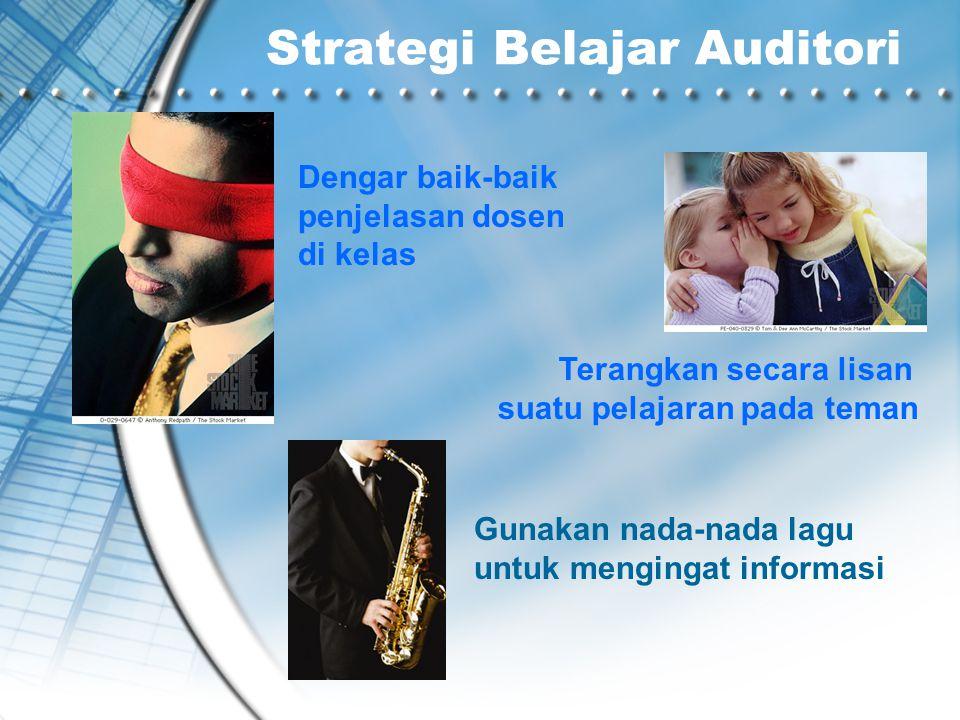 Strategi Belajar Auditori