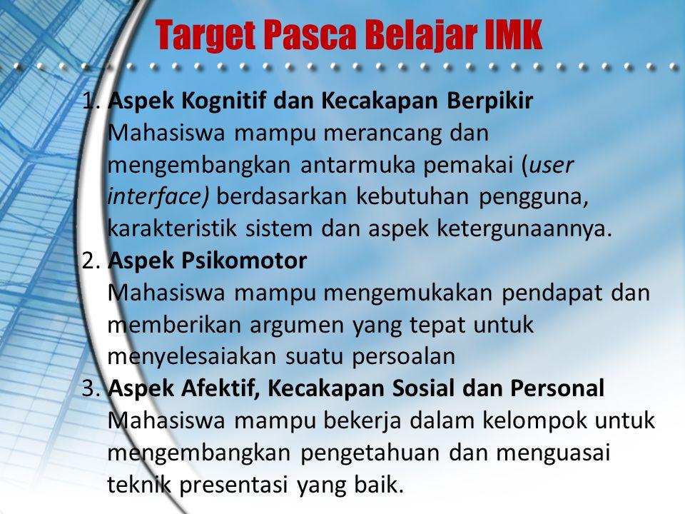 Target Pasca Belajar IMK