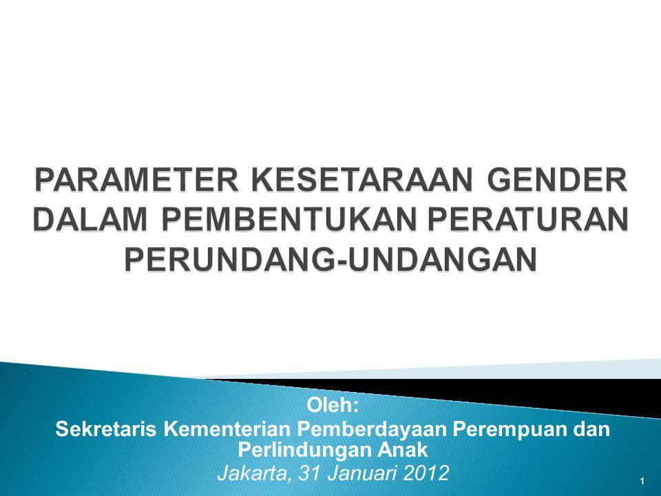 Sekretaris Kementerian Pemberdayaan Perempuan dan Perlindungan Anak