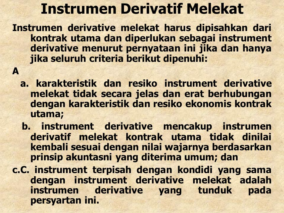 Instrumen Derivatif Melekat