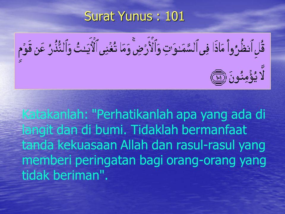 Surat Yunus : 101