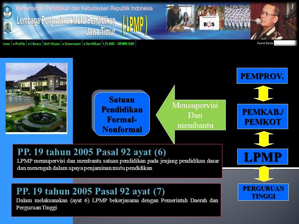 LPMP PP. 19 tahun 2005 Pasal 92 ayat (6)