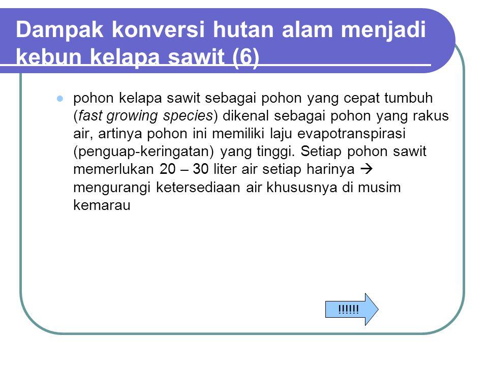 Dampak konversi hutan alam menjadi kebun kelapa sawit (6)