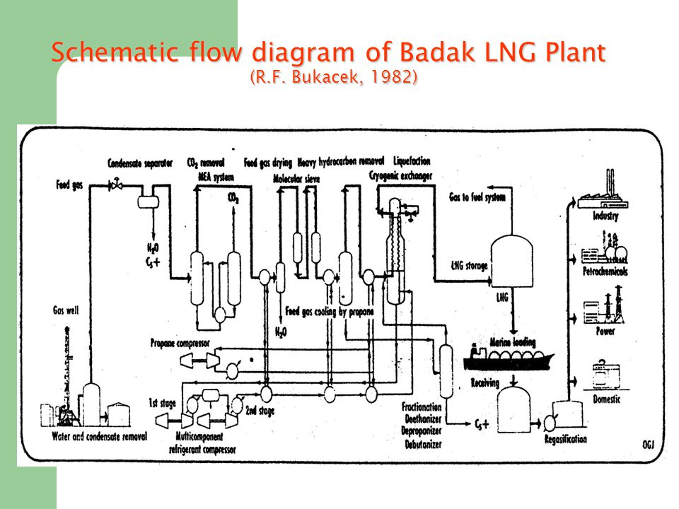 Schematic flow diagram of Badak LNG Plant