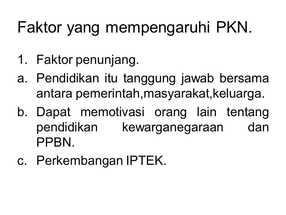 Faktor yang mempengaruhi PKN.