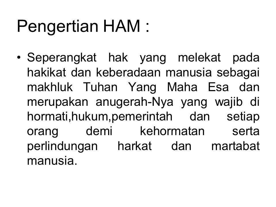 Pengertian HAM :