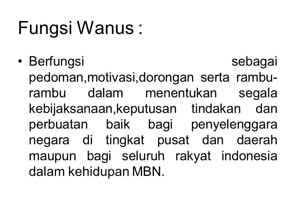 Fungsi Wanus :