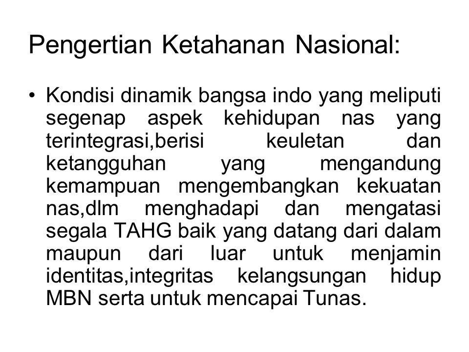 Pengertian Ketahanan Nasional: