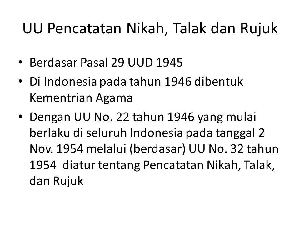 UU Pencatatan Nikah, Talak dan Rujuk