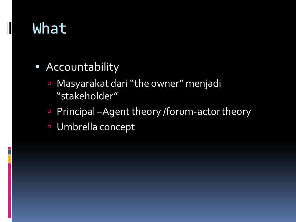 What Accountability Masyarakat dari the owner menjadi stakeholder