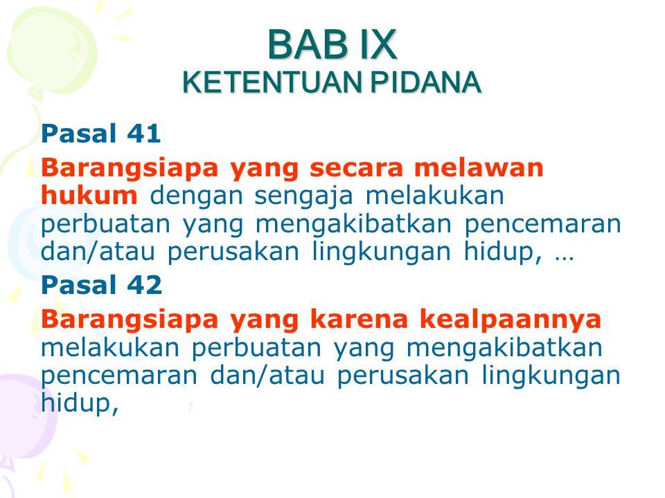 BAB IX KETENTUAN PIDANA