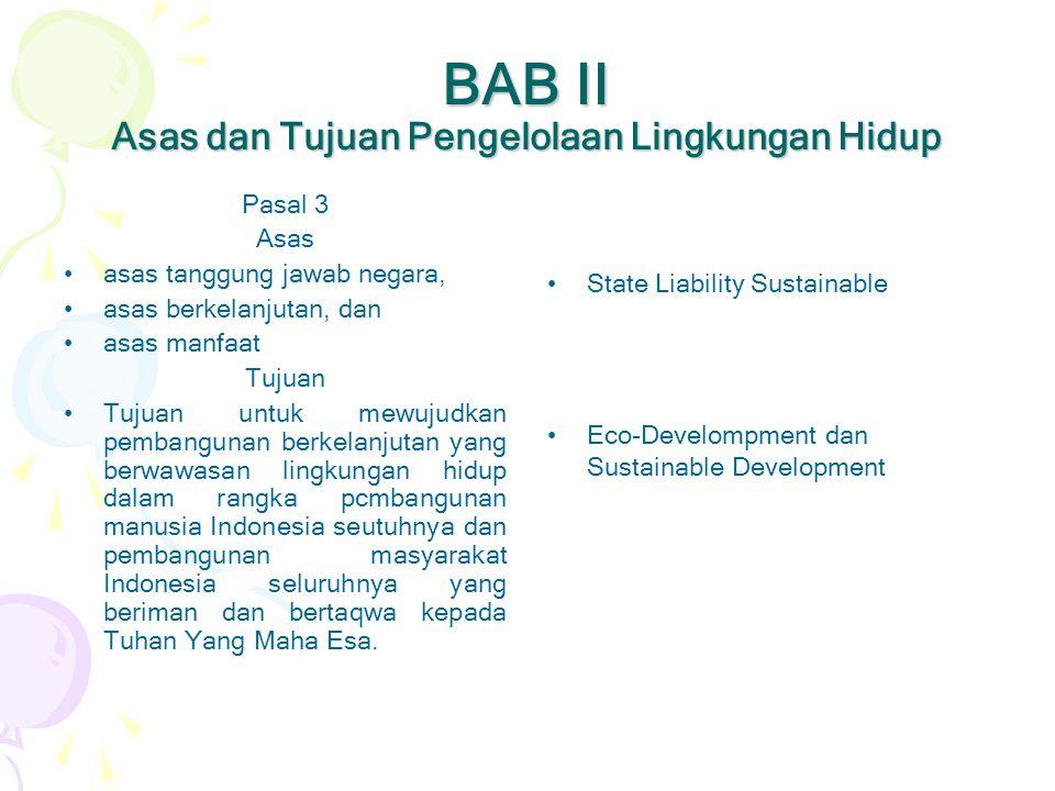BAB II Asas dan Tujuan Pengelolaan Lingkungan Hidup