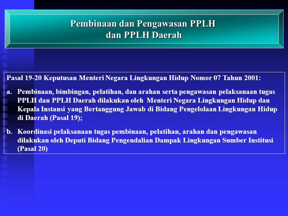 Pembinaan dan Pengawasan PPLH