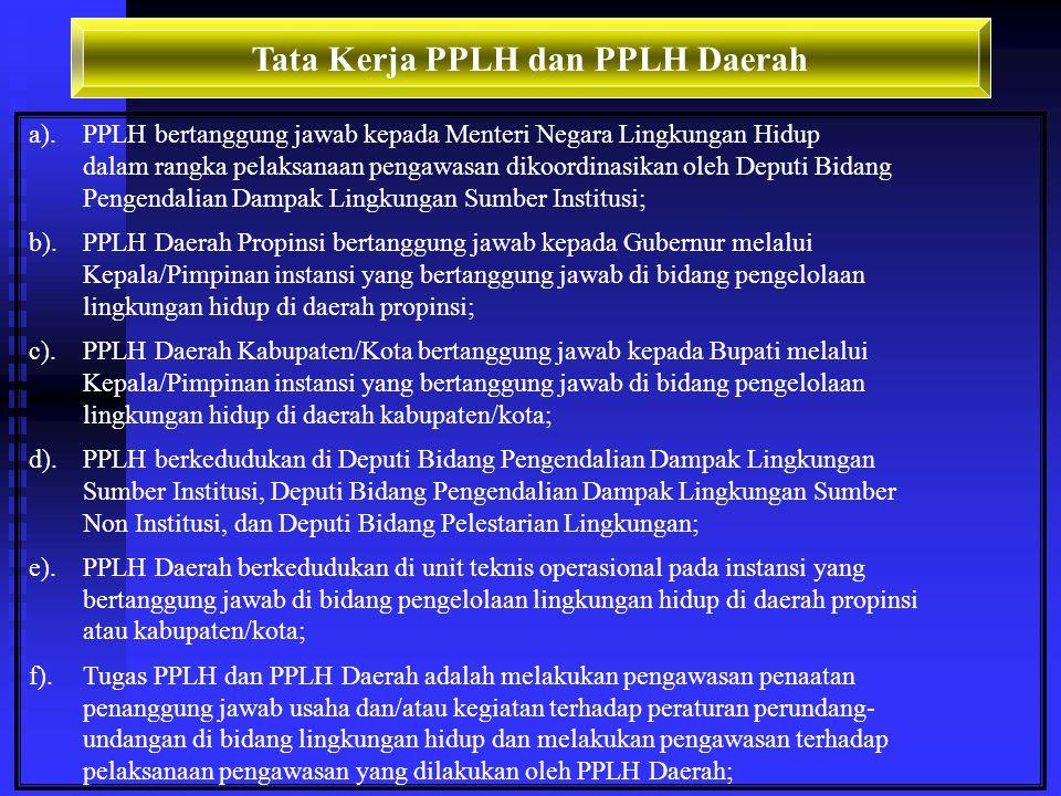 Tata Kerja PPLH dan PPLH Daerah