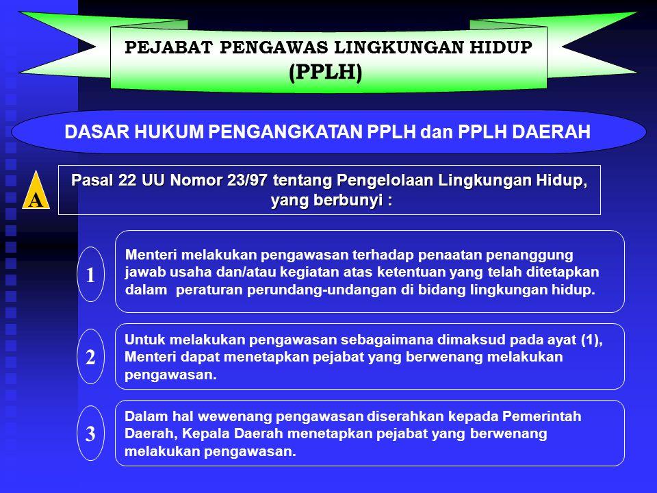 (PPLH) A 1 2 3 PEJABAT PENGAWAS LINGKUNGAN HIDUP