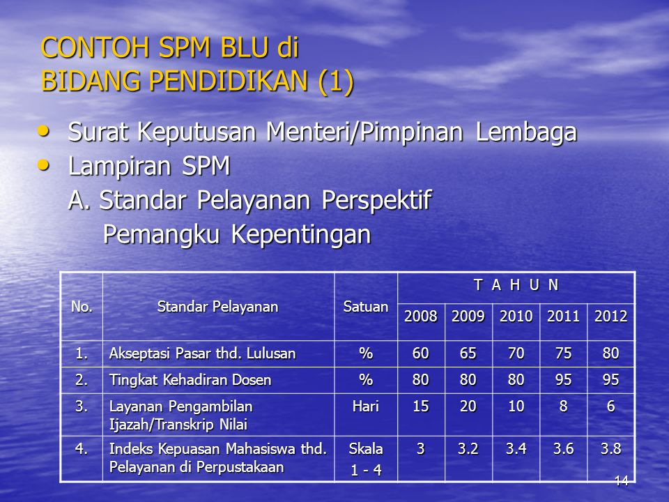 CONTOH SPM BLU di BIDANG PENDIDIKAN (1)