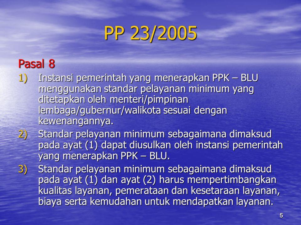 PP 23/2005 Pasal 8.