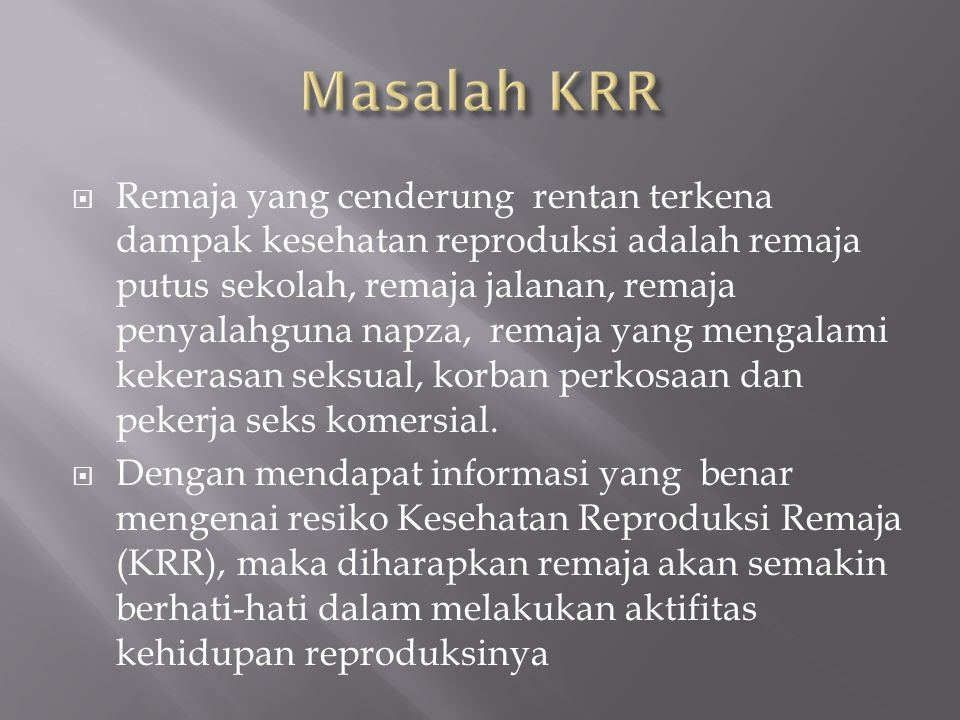 Masalah KRR