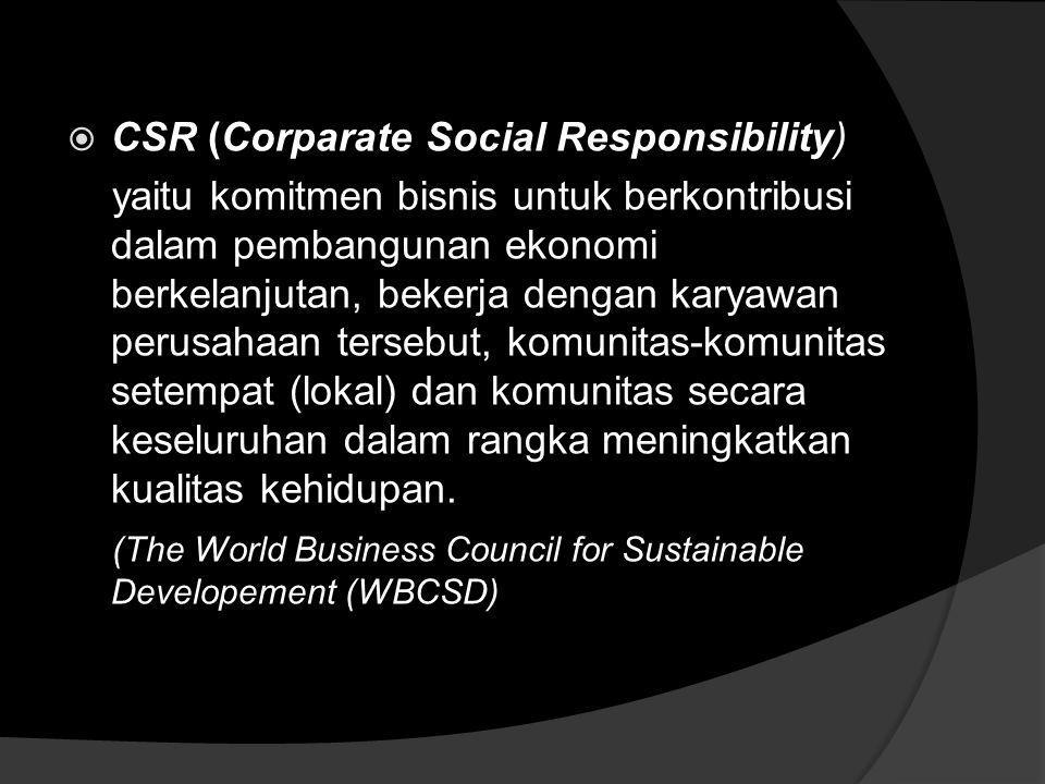CSR (Corparate Social Responsibility)