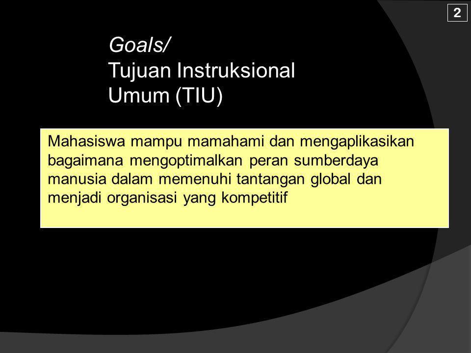 Goals/ Tujuan Instruksional Umum (TIU)