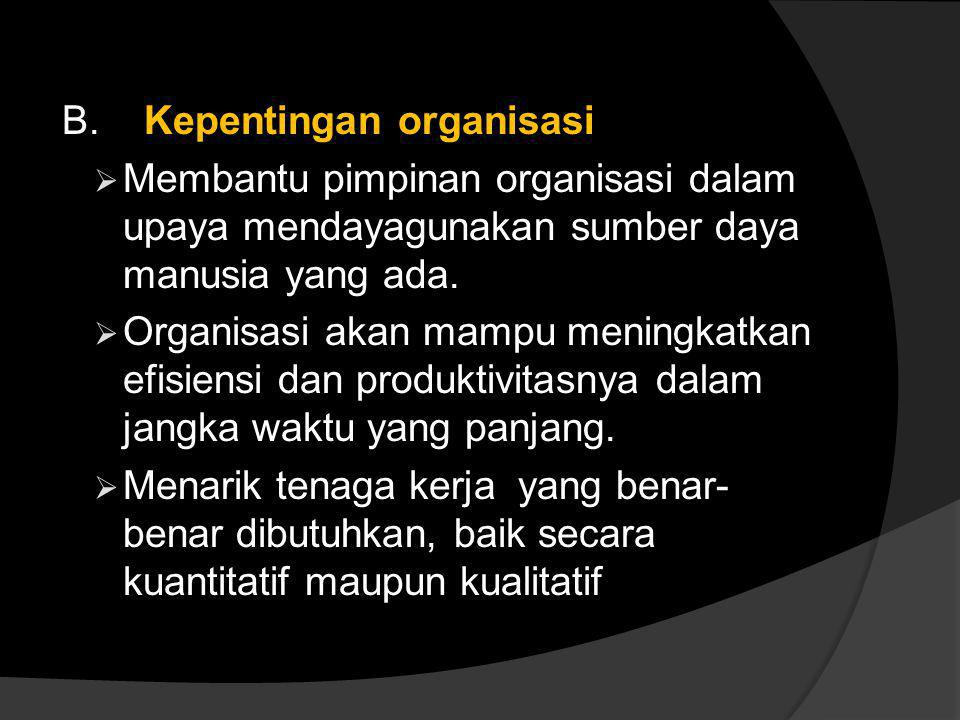 B. Kepentingan organisasi