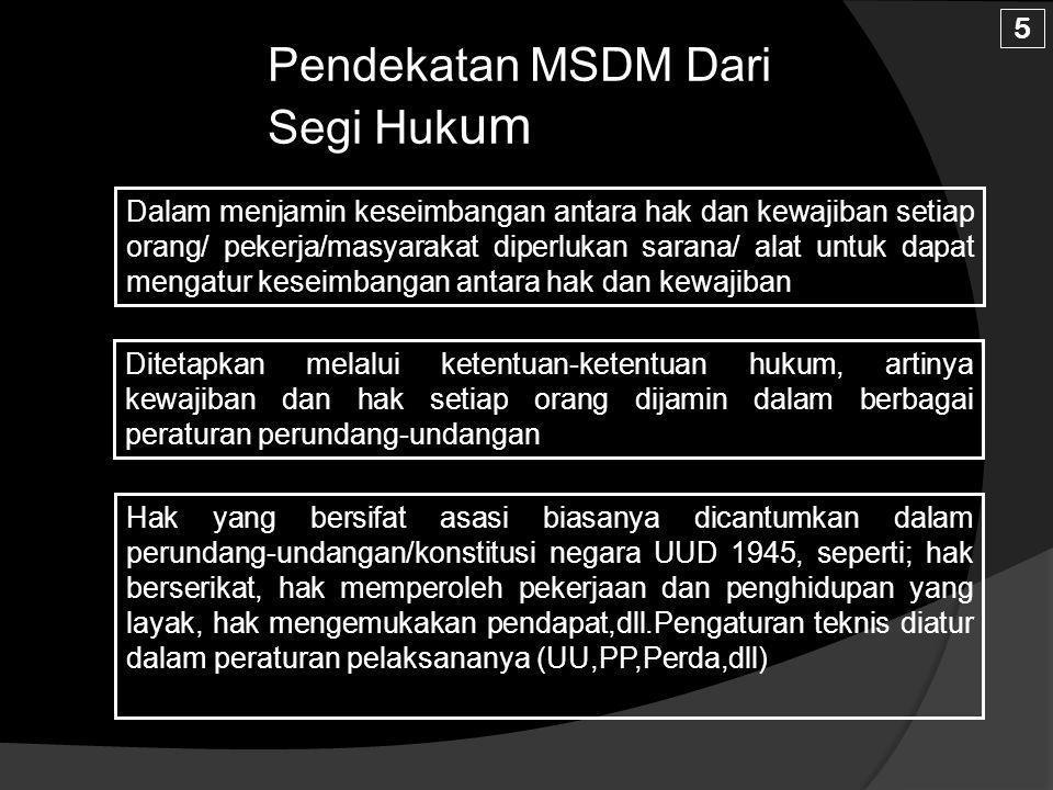 Pendekatan MSDM Dari Segi Hukum