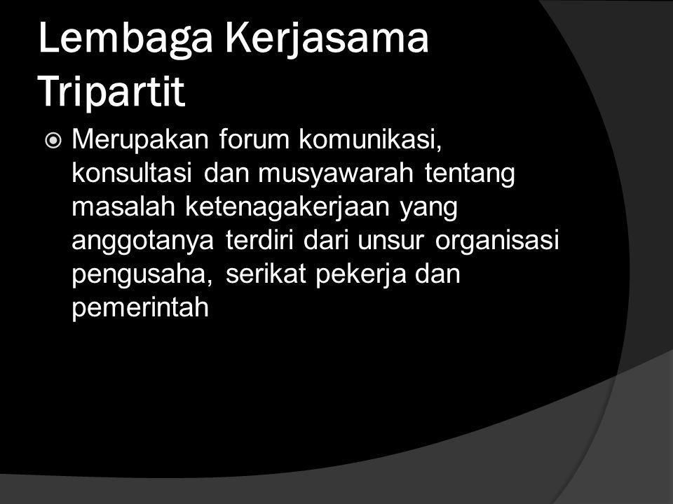 Lembaga Kerjasama Tripartit