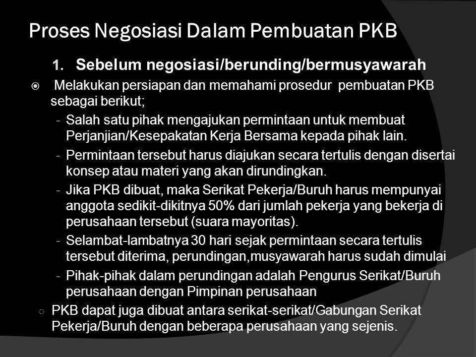 Proses Negosiasi Dalam Pembuatan PKB