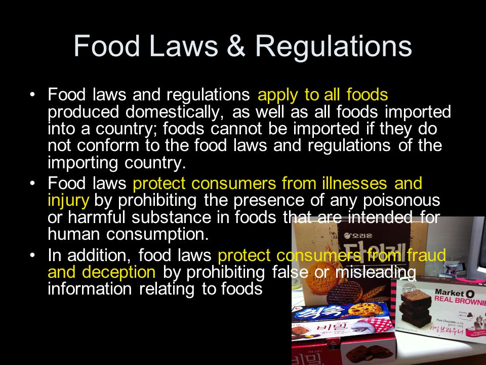 Food Laws & Regulations