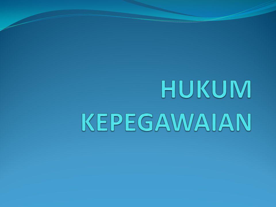 HUKUM KEPEGAWAIAN