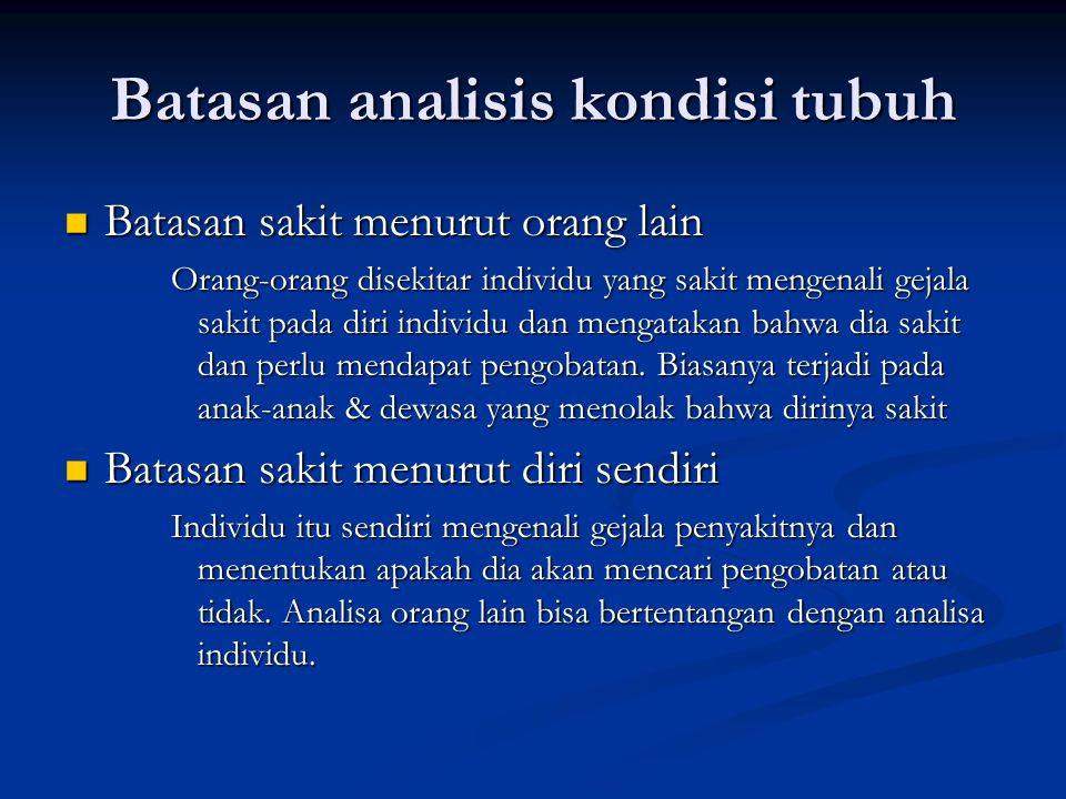 Batasan analisis kondisi tubuh