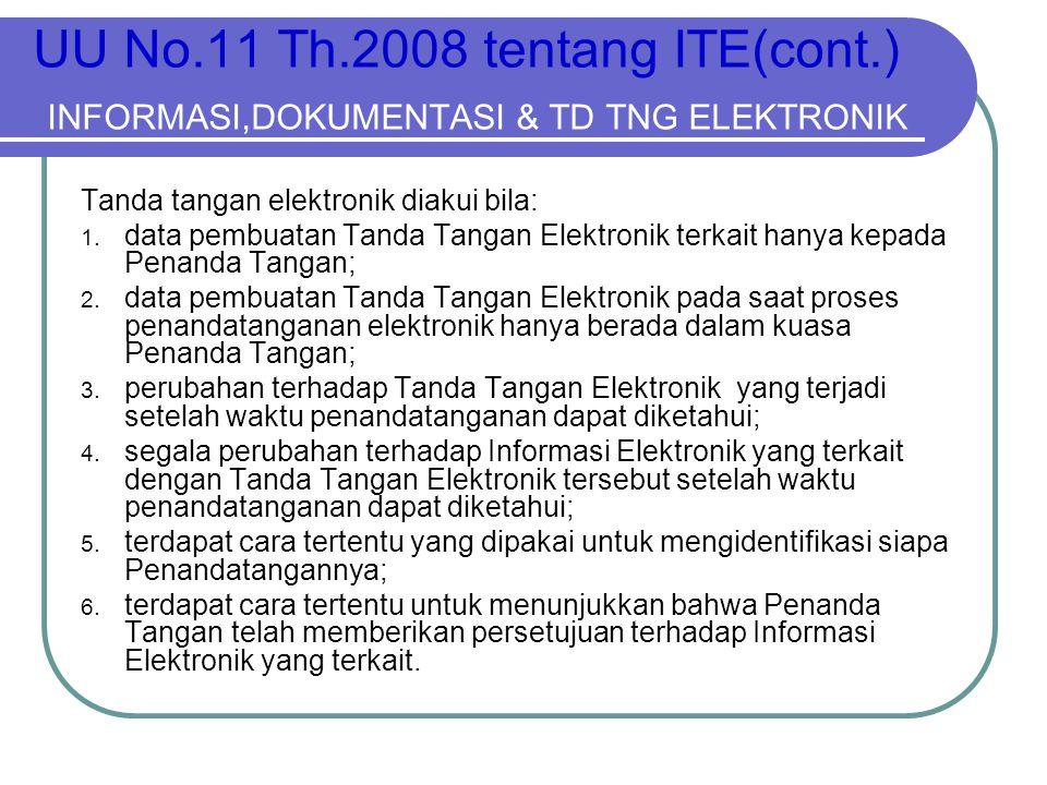 UU No. 11 Th. 2008 tentang ITE(cont