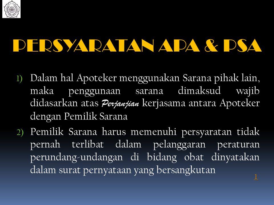 PERSYARATAN APA & PSA