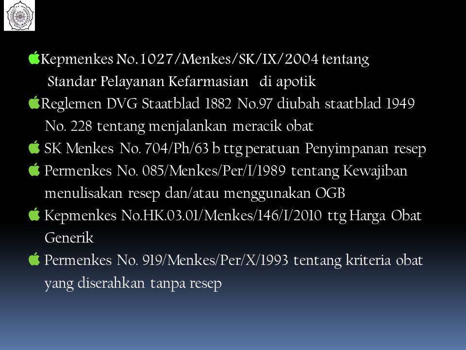 Kepmenkes No.1027/Menkes/SK/IX/2004 tentang