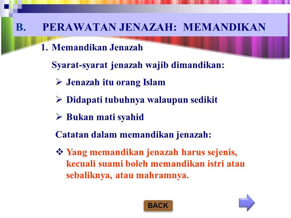 PERAWATAN JENAZAH: MEMANDIKAN