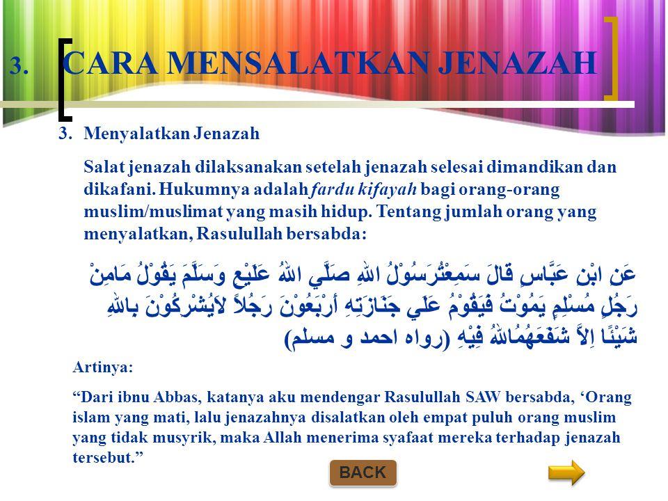 3. CARA MENSALATKAN JENAZAH