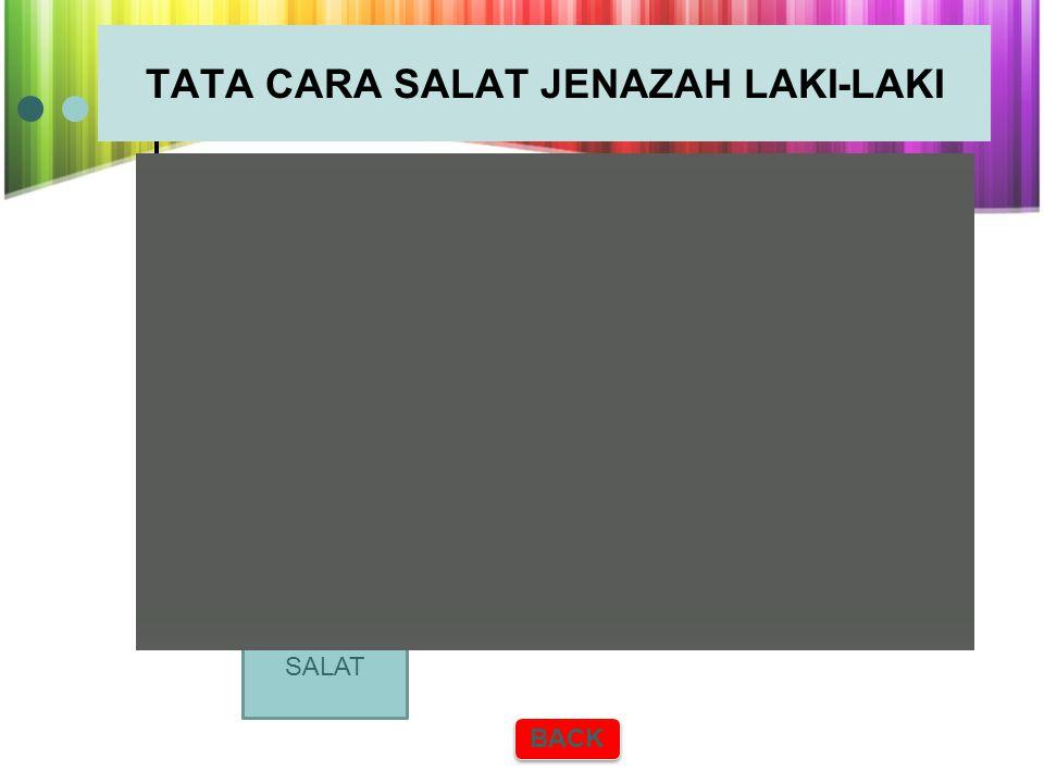 TATA CARA SALAT JENAZAH LAKI-LAKI